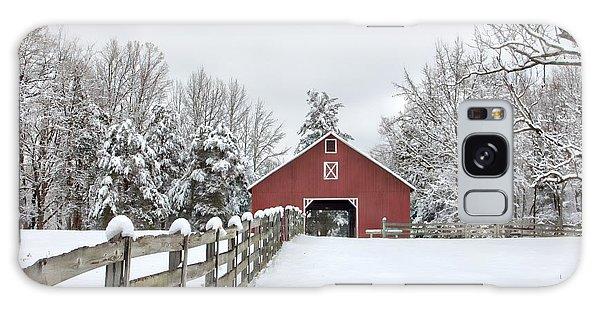 Winter On The Farm Galaxy Case