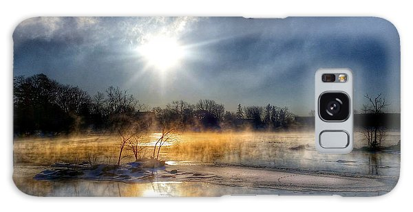 Winter On The Wisconsin River Galaxy Case