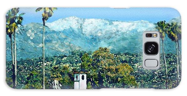 Winter Paradise Santa Barbara Galaxy Case
