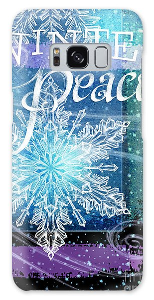 Winter Peace Greeting Galaxy Case