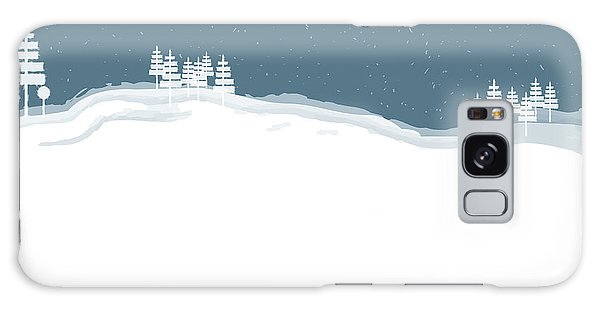 Winter Pines Galaxy Case by Kevin McLaughlin