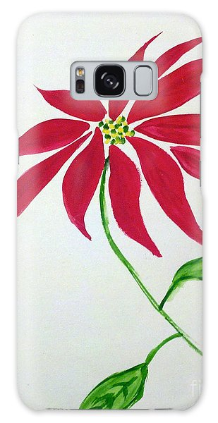Winter Poinsettia Galaxy Case