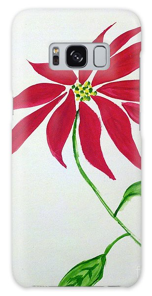 Winter Poinsettia Galaxy Case