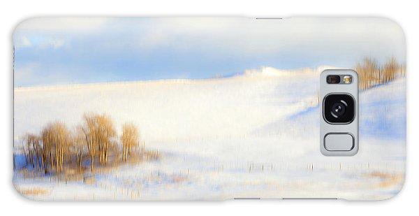 Winter Poplars Galaxy Case by Theresa Tahara
