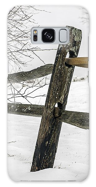 Winter Rail Fence Galaxy Case