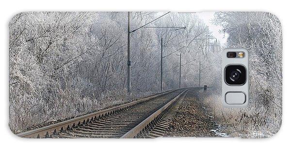 Winter Railroad Galaxy Case by Martin Capek