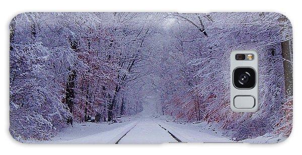 Train Galaxy S8 Case - Winter Rails by Greg Kear
