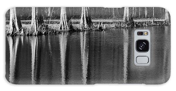 Winter Reflections - Cypress Tree Art Print Galaxy Case
