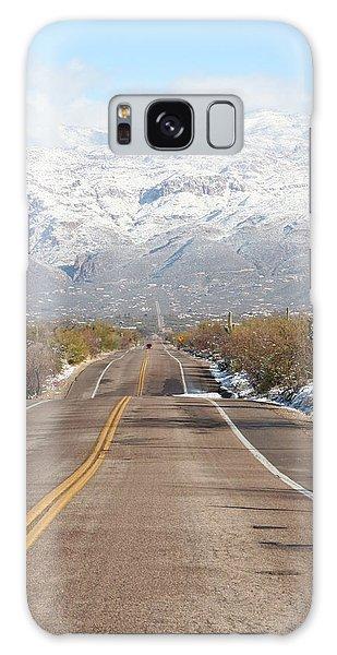 Winter Road Galaxy Case