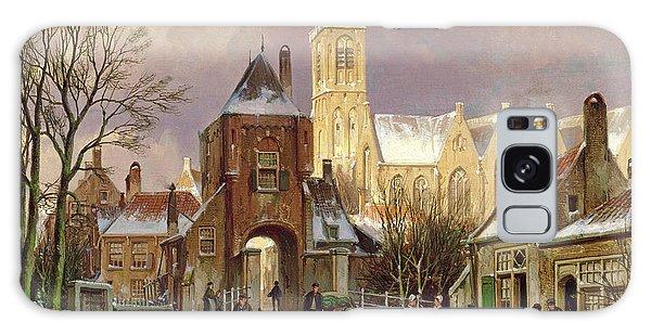 Cart Galaxy Case - Winter Scene In Amsterdam by Willem Koekkoek