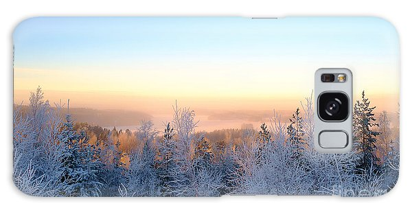 Winter Scenery Of The Lake Hiidenvesi Galaxy Case