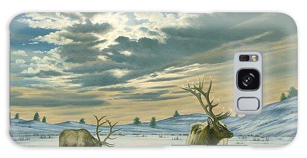 Bull Galaxy Case - Winter Sky-elk   by Paul Krapf