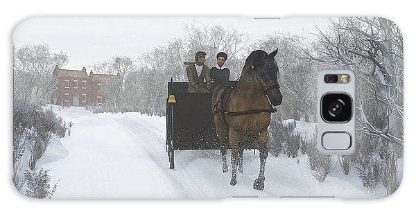 Winter Sleigh Ride Galaxy Case