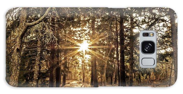 Winter Solstice Walk Galaxy Case