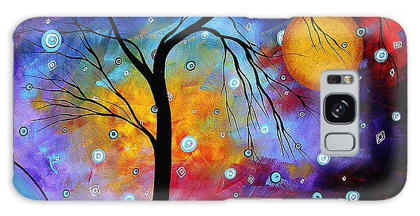 Abstract Landscape Galaxy Case - Winter Sparkle Original Madart Painting by Megan Duncanson