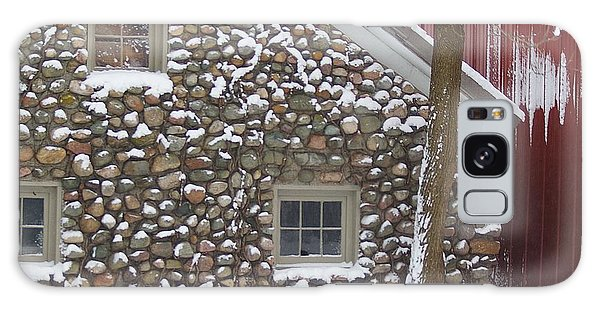 Winter Stone Pattern Galaxy Case by Randy Pollard