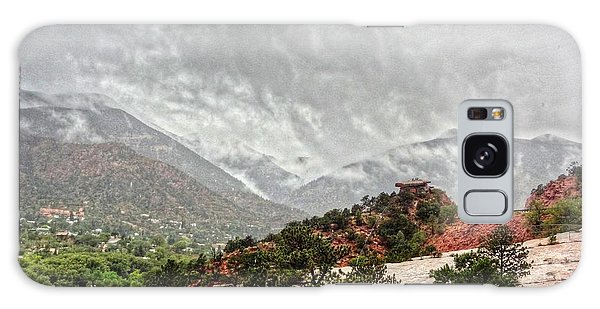 Winter Storm On A Summer Day Galaxy Case by Lanita Williams