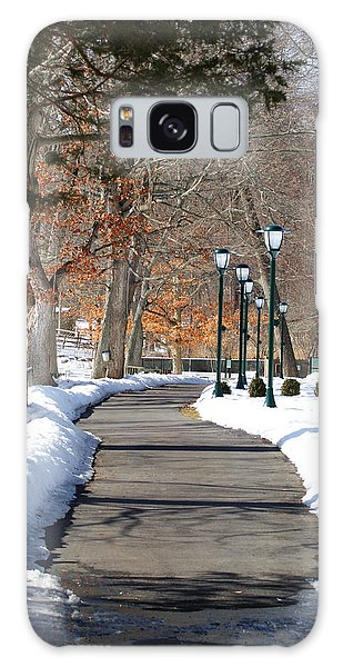 Winter Stroll Galaxy Case by Margie Avellino