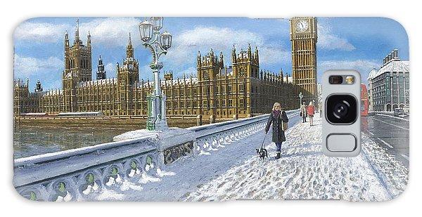 Houses Of Parliament Galaxy Case - Winter Sun - Houses Of Parliament London by Richard Harpum