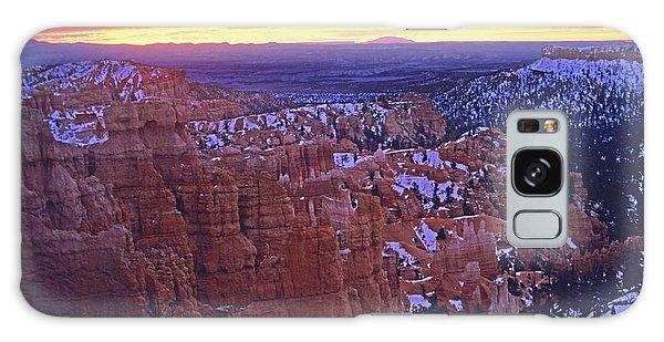 Winter Sunrise At Bryce Canyon Galaxy Case