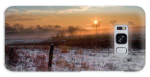 Winter Sunrise Galaxy Case