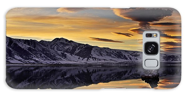 Winter Sunset At Mono Lake Galaxy Case by David Orias