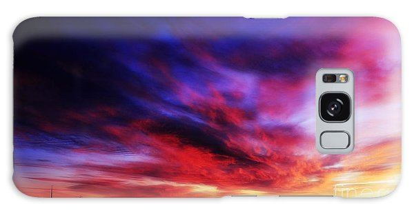Winter Sunset Galaxy Case