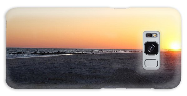 Winter Sunset On Long Beach Galaxy Case
