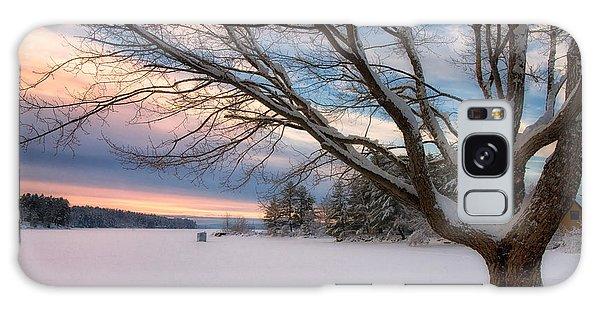 Winter Sunset On Long Lake Galaxy Case