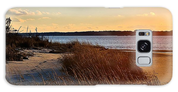 Winter Sunset On The Cape Fear River Galaxy Case