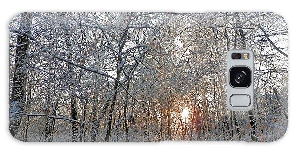 Winter Sunset Galaxy Case