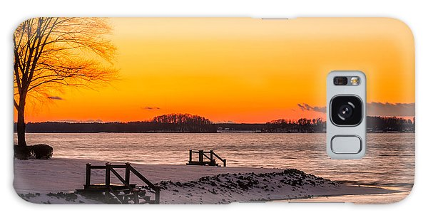 Winter Sunset Galaxy Case by Serge Skiba