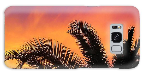 Winter Sunset Galaxy Case by Tammy Espino