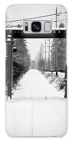 Winter Tracks Galaxy Case by Aaron Berg