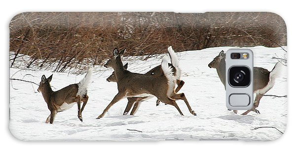 White Tailed Deer Winter Travel Galaxy Case by Neal Eslinger
