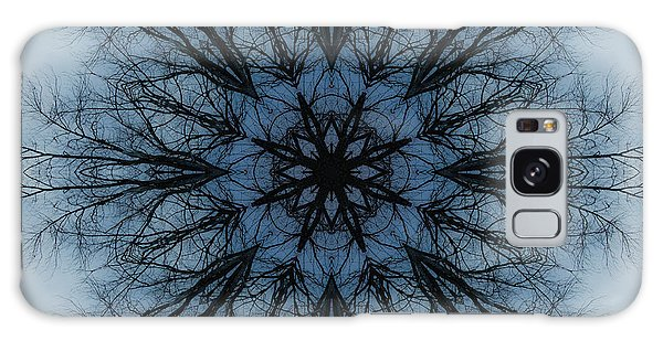 Winter Tree Mandala 2 Galaxy Case