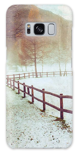 Winter Tree With Fence Galaxy Case