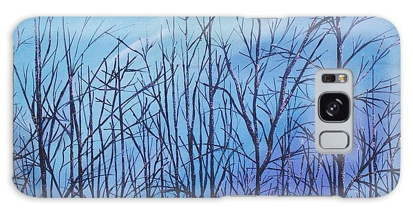 Winter Trees Against A Blue Sky Galaxy Case
