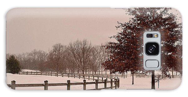 Winter Trees In Park Galaxy Case