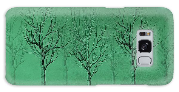 Winter Trees In The Mist Galaxy Case