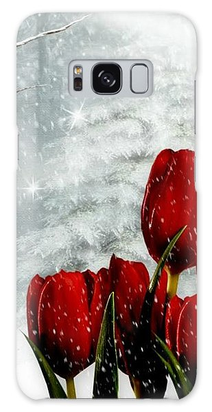 Winter Tulips Galaxy Case by Morag Bates