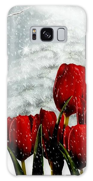 Winter Tulips Galaxy Case