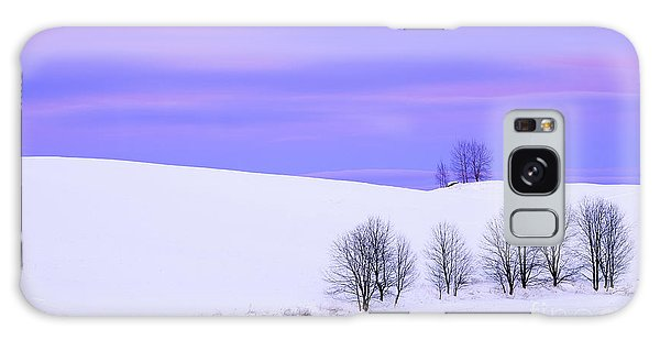 Winter Twilight Landscape Galaxy Case