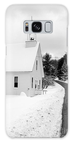Cold Day Galaxy Case - Winter Vermont Church by Edward Fielding