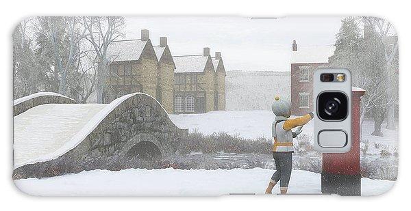 Winter Village With Postbox Galaxy Case