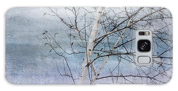 Winter White Birch  Galaxy Case
