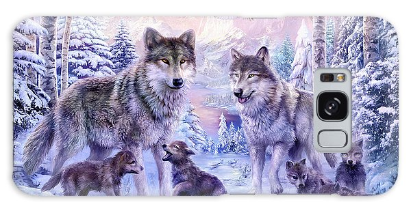 Winter Wolf Family  Galaxy Case by Jan Patrik Krasny