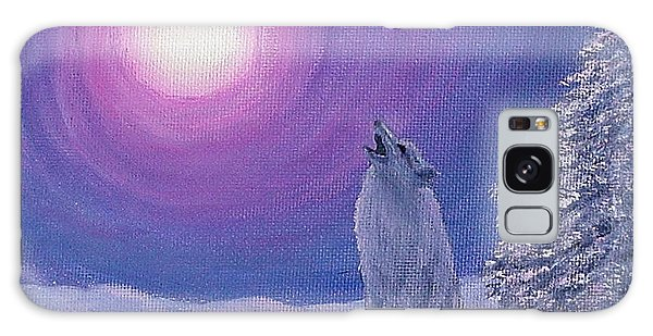 Winter Wolf Song Galaxy Case