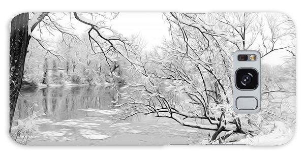 Winter Wonderland In Black And White Galaxy Case