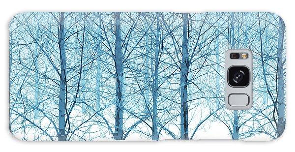 Winter Woodland In Blue Galaxy Case